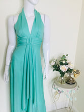 Load image into Gallery viewer, Vintage 70s Mint Green Maxi Dress