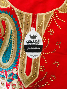 Red Kaftan with Embroidery