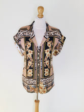 Load image into Gallery viewer, Baroque style short sleeved blouse