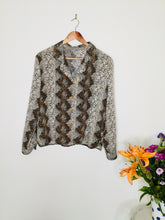 Load image into Gallery viewer, Vintage snakeskin print blouse
