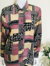 Load image into Gallery viewer, Vintage Mixed Print Blouse