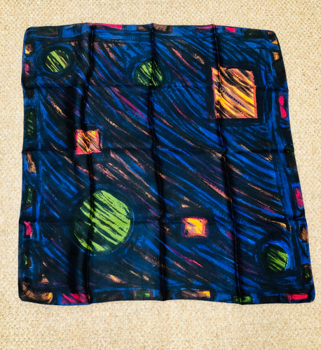 vintage scarf with cosmic print