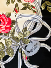 Load image into Gallery viewer, vintage rose print silk scarf by Aquascutum