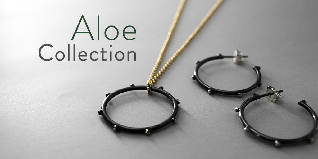 Aloe Collection by Emilio Sotelo Jewelry | Inspired by the Aloe Vera leaf, with rough edges yet full with healing power.