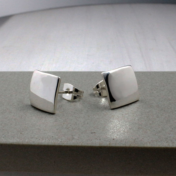 Small Square Silver Earrings | High Polished Sterling Silver | Jewelry | Silver | Wholesale | Sterling Silver | Jewelry | Silver | Wholesale Post Earrings