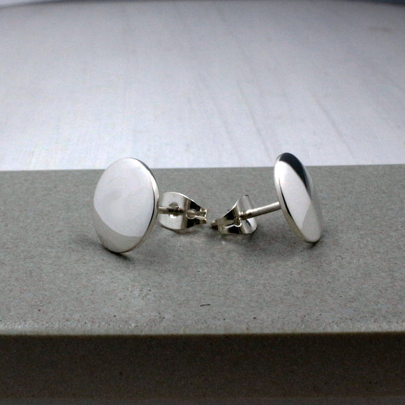 Small Disc Silver Earrings | High Polished Sterling Silver | Jewelry | Silver | Wholesale | Sterling Silver | Jewelry | Silver | Wholesale Post Earrings