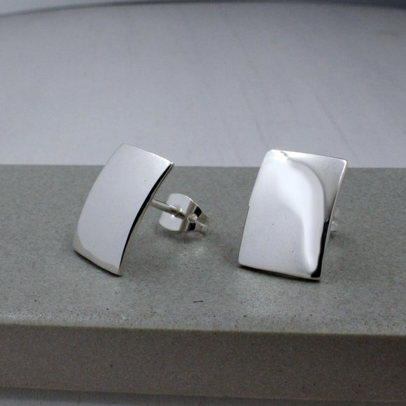 Small Rectangle Silver Earrings | High Polished Sterling Silver | Jewelry | Silver | Wholesale | Sterling Silver | Jewelry | Silver | Wholesale Post Earrings