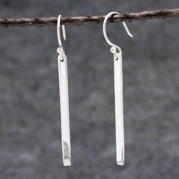 Slab Silver Earrings | High Polished Sterling Silver | Jewelry | Silver | Wholesale | French Wire Sterling Silver | Jewelry | Silver | Wholesale Earrings
