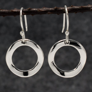 Rippled Inner Sterling Silver | Jewelry | Silver | Wholesale Hoop Earrings | High Polished Sterling Silver | Jewelry | Silver | Wholesale | French Wire Sterling Silver | Jewelry | Silver | Wholesale Earrings