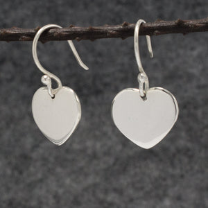 Miller Heart Silver Earrings | High Polished Sterling Silver | Jewelry | Silver | Wholesale | French Wire Sterling Silver | Jewelry | Silver | Wholesale Earrings