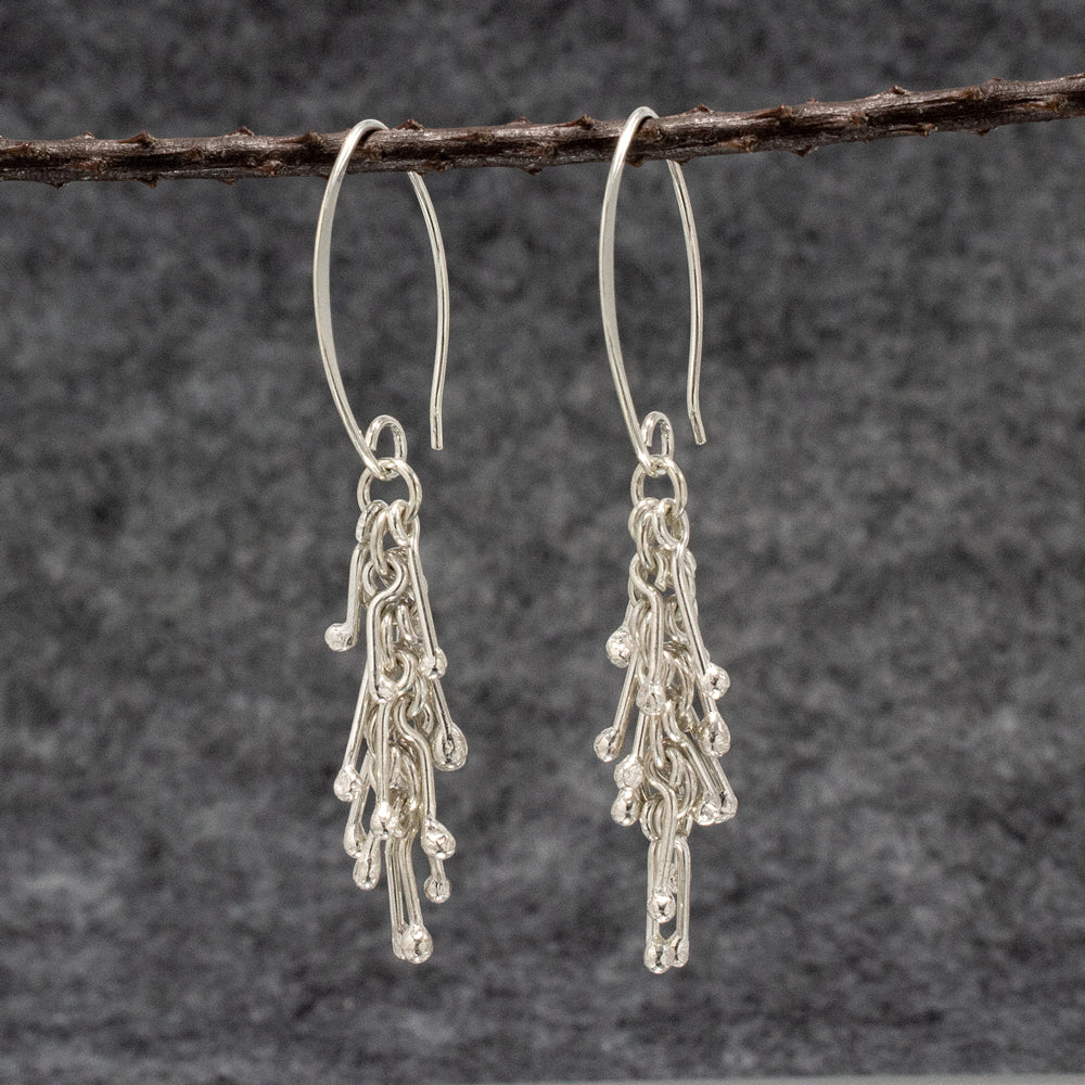 Aurora Sterling Silver French Wire Earrings | High Polished Finish
