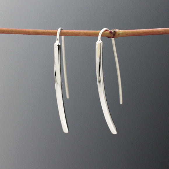 Small WaterFall Silver Earrings | High Polished Sterling Silver | Jewelry | Silver | Wholesale | French Wire Sterling Silver | Jewelry | Silver | Wholesale Earrings