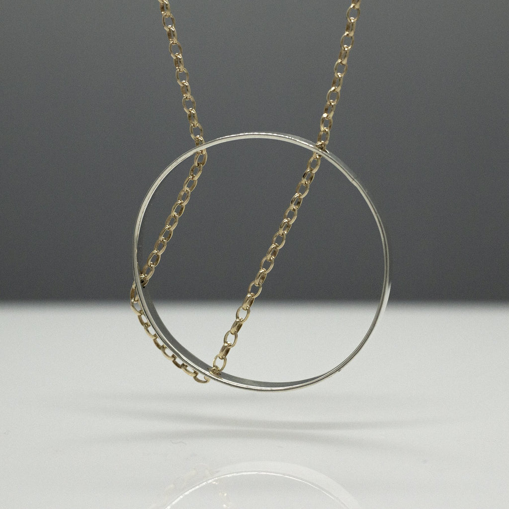 "SUN Silhouette Sterling Silver Pendant | High Polished Finish | 20"" Adjustable Gold Filled Silver Chain"
