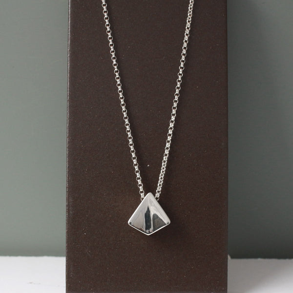 "KITE Silver Pendant | High-Polished Sterling Silver | 18"" Sterling Silver Chain Included"