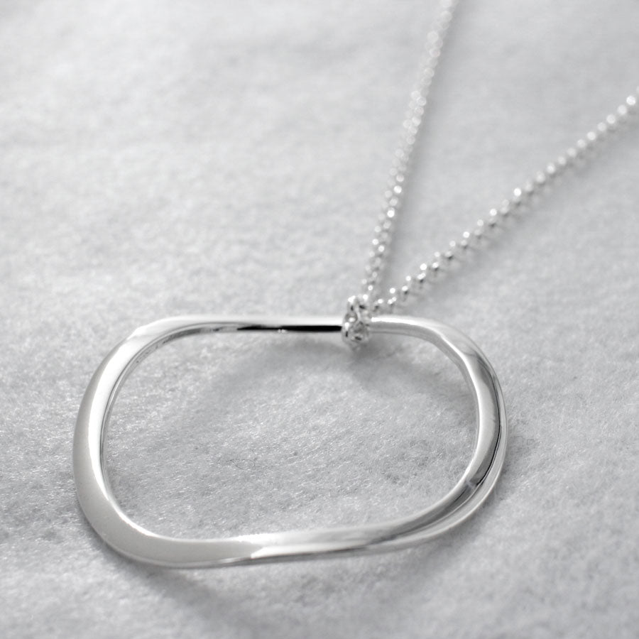 "This AYA Outer Hoop Sterling Silver Pendant Features A High Polished Sterling Silver Finish. 2.5 Millimeters Sterling Silver Rolo Chain Is Included. Pendant Measures 42 Millimeters In Diameter (1.10/16"" In Diameter). Outline Thickness Is 3 Millimeters.  2.5 Millimeters Sterling Silver Rolo Chain With A Lobster Claw Clasp Loop Thru Pendant. The Necklace Can Be Worn At 24"" Or At 26"" In Length. This Pendant Is Made Using .950 Sterling Silver With High Polished Sterling Silver Finish."