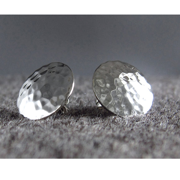 Disc Silver Earrings | Hammered Sterling Silver | Jewelry | Silver | Wholesale | Sterling Silver | Jewelry | Silver | Wholesale Post Earrings