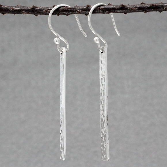 Slab Silver Earrings | Hammered Sterling Silver | Jewelry | Silver | Wholesale | French Wire Sterling Silver | Jewelry | Silver | Wholesale Earrings