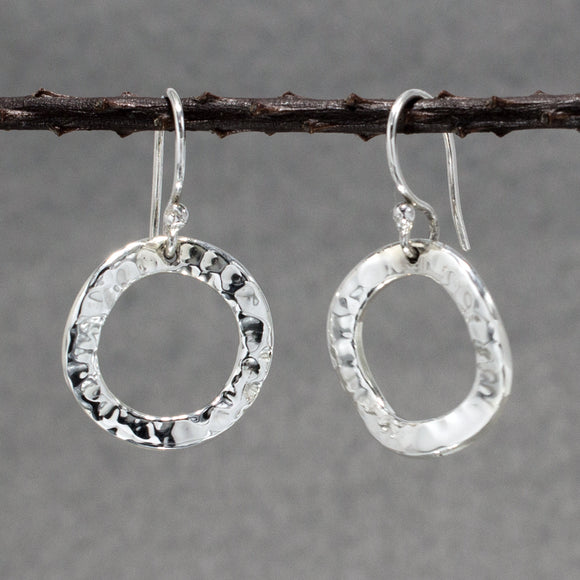 Rippled Inner Sterling Silver | Jewelry | Silver | Wholesale Hoop Earrings | Hammered Sterling Silver | Jewelry | Silver | Wholesale | French Wire Sterling Silver | Jewelry | Silver | Wholesale Earrings