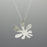 Anto Flower Silver Pendant | High-Polished Sterling Silver | Sterling Silver Chain Included