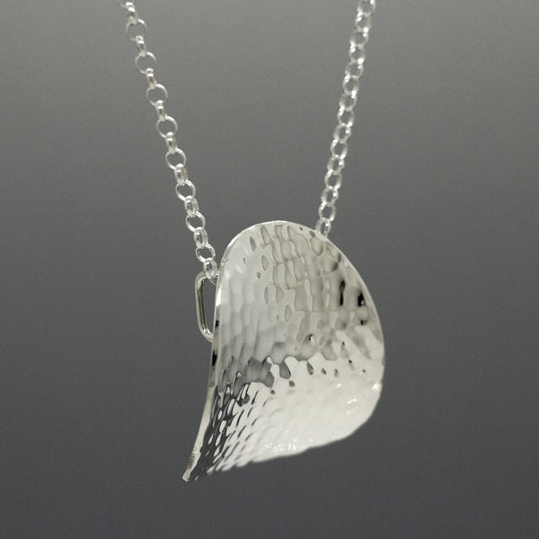 Daisy Petal Hammered Silver Pendant