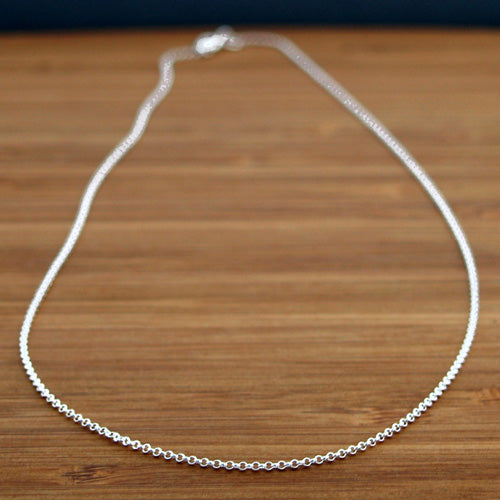 1.5 MM Sterling Silver Rolo Chain | High Polished Finish