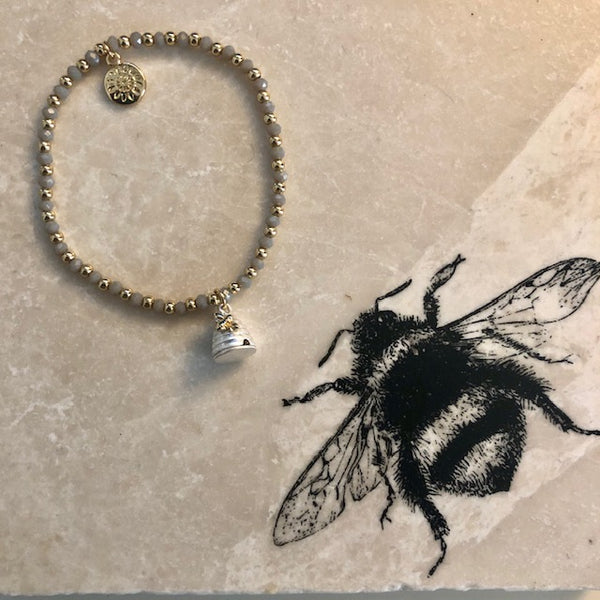 Honey Bee and Beehive Bracelet