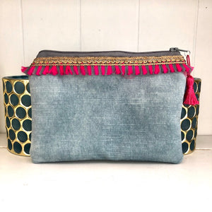 Heather Mini Velvet Clutch