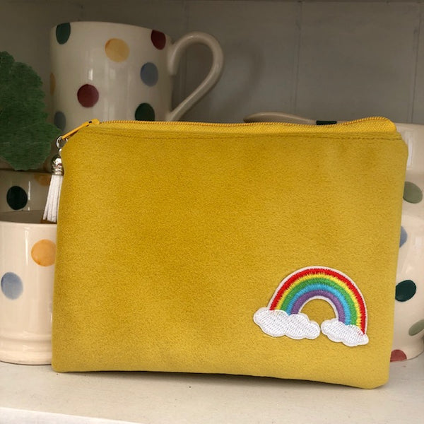 Hope Mini Velvet Clutch in Yellow