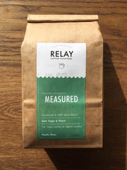 Measured coffee blend from RELAY Coffee Roasters