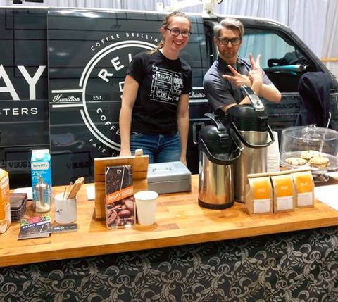 Sierra and Jason at the Vintage Marketplace - RELAY Coffee Roaters