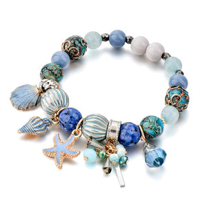Starfish and Seashell Bracelet