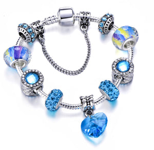 Enchanted Blue Heart Bracelet