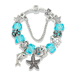 Dolphin And Star Fish Bracelet