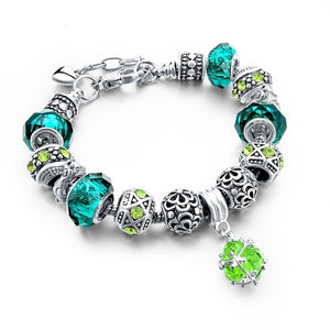 Emerald Multi Colored Stone Bracelet
