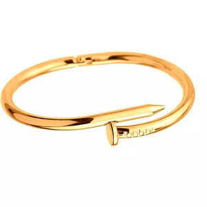 Nail Bracelet Stainless Steel Screw Bangle