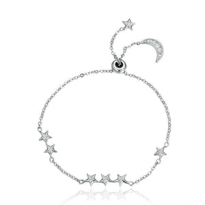 Moon & Star Chain Bracelet