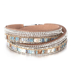 Crystal Bohemian Multilayer Bracelet
