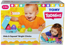 Load image into Gallery viewer, Tomy Toomies Hide & Squeak Bright Chicks