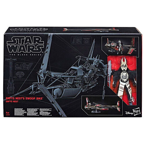 Star Wars The Black Series Enfys Nest with Swoop Bike figure 15cm