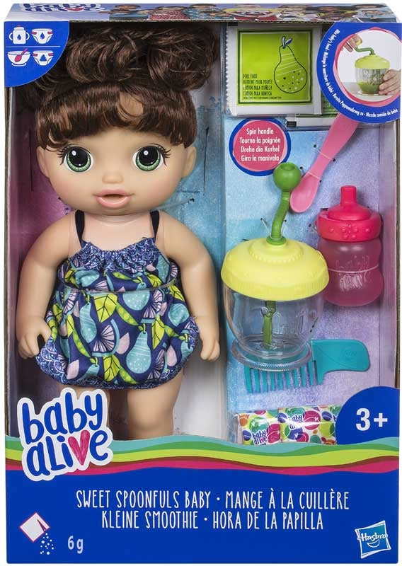 Baby Alive Sweet Spoonfuls Doll Girl BR