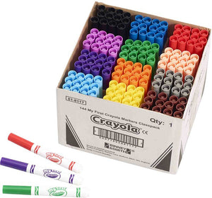 CRAYOLA 144 ASSORTED MY FIRST MARKERS CLASSPACK