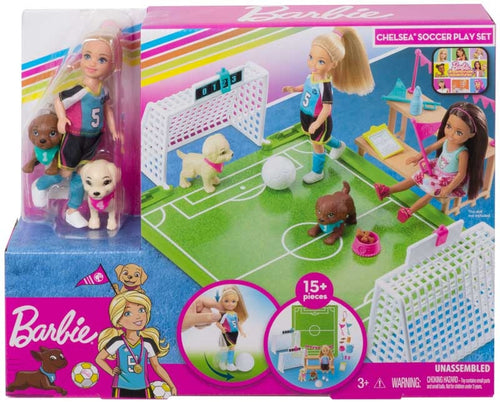 BARBIE CHELSEA FOOTBALL PLAYSET