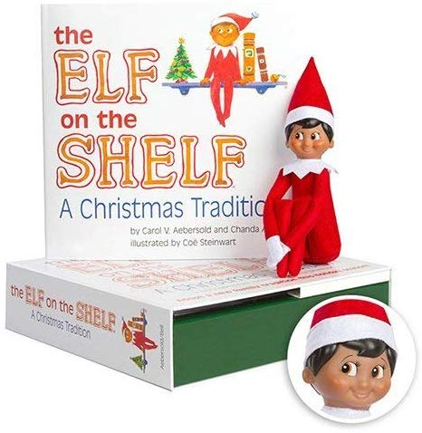 Elf on the Shelf: A Christmas Tradition - Dark Skinned Boy Scout Elf Box Set
