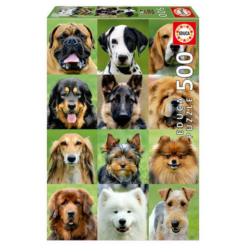 Collage of Dogs puzzle 500pcs