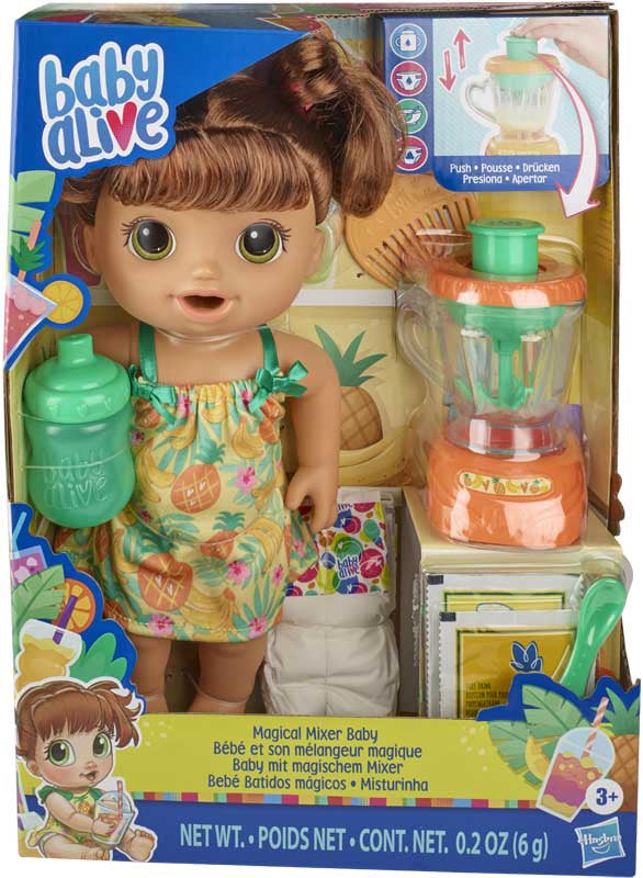 Baby Alive Magical Mixer Baby Brown Hair