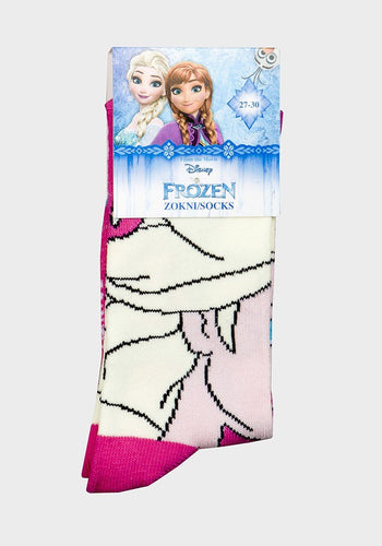 Disney Frozen Elsa Profile Cotton Blend Socks Pink