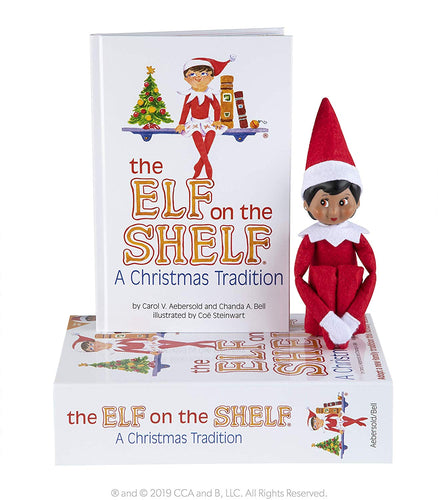 Elf on the Shelf: A Christmas Tradition - Dark Skinned Girl Scout Elf Box Set