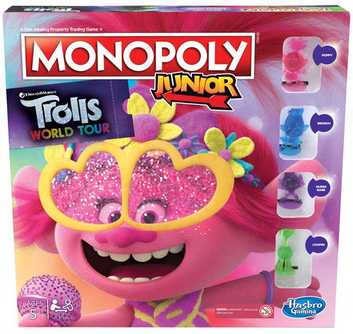 Hasbro Monopoly Junior Trolls Game