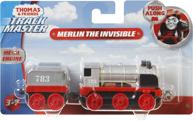 Thomas & Friends Large Push Along Engine Merlin the Invisible
