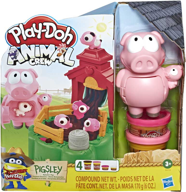 Play Doh Pigsley Splashing Pigs